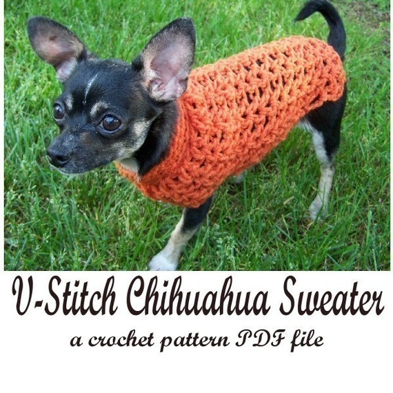 Handmade Crocheted Small Dog Sweater Plus Pattern Giveaway
